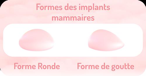 formes des implants mammaires